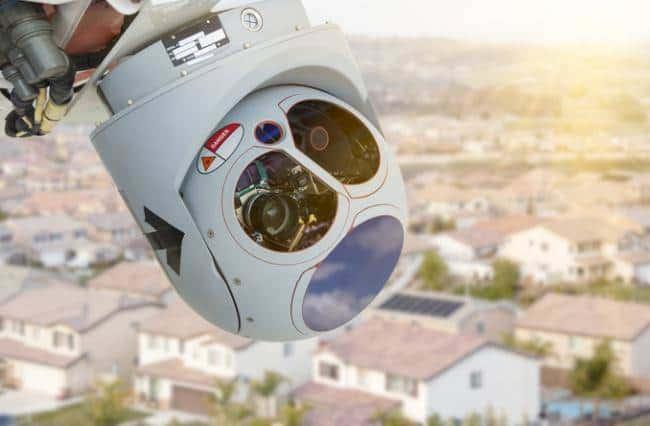 Drone video camera sensor