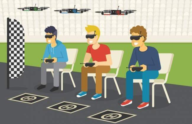 Race with camera drones