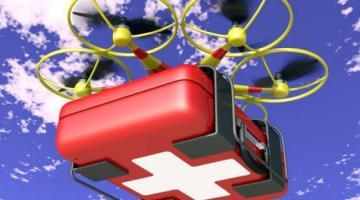 Drone delivers medical equipment