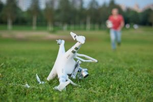 Commercial drone crashes