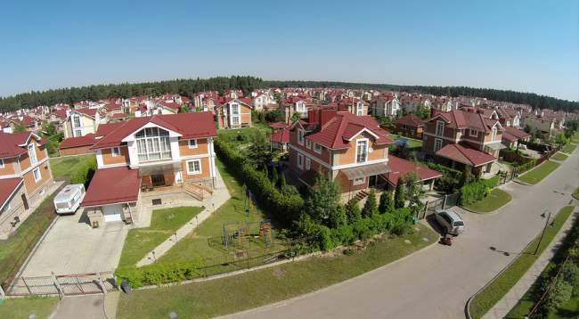 drone shooting video of real estate