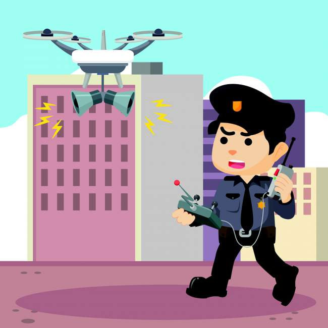 camera drone used by police