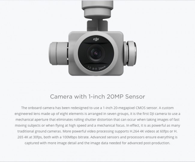 Camera for Phantom 4 PRO