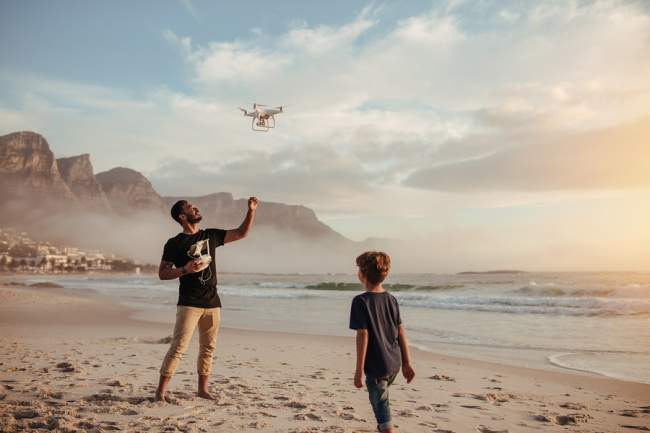 Recreational drone with camera