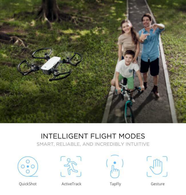 intelligent flight modes dji spark