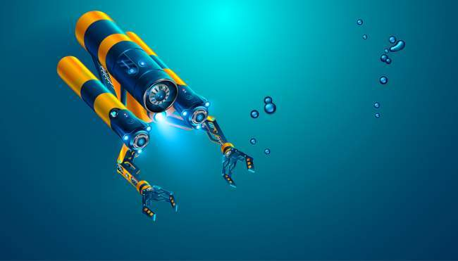 autonomous underwater drone