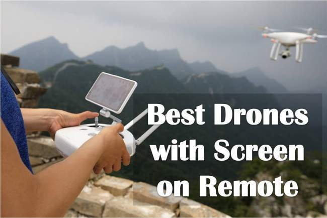 drones with screen on remote