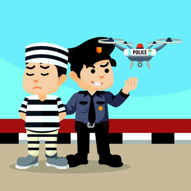 Police and drone