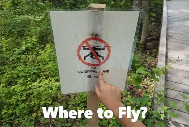 no drone sign