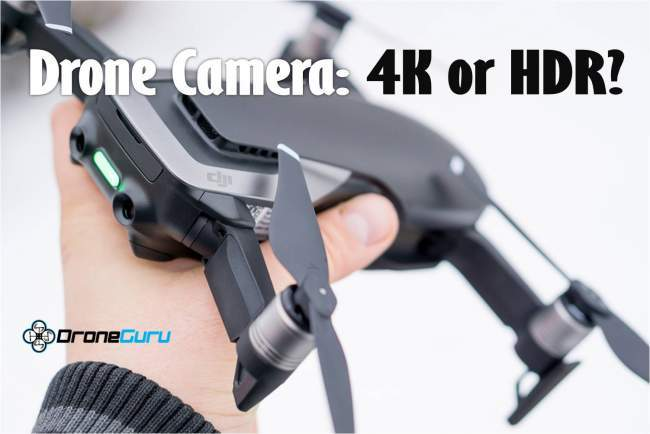 4K and HDR drone camera