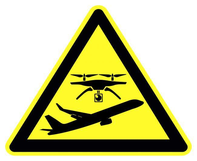 drones allowed near airports?