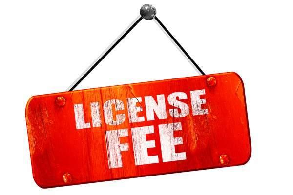 Drone License fee