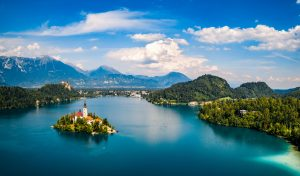 Aerial photo in Slovenia